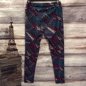 LuLaRoe Pants - LulaRoe Dark Geometric Printed Leggings